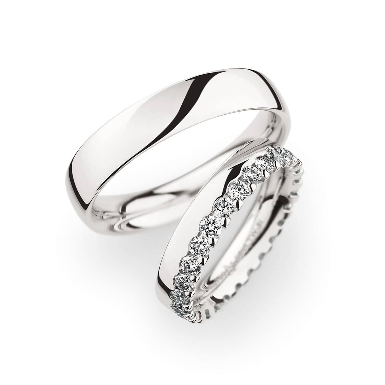 Bauer Krönchen Ring weiß